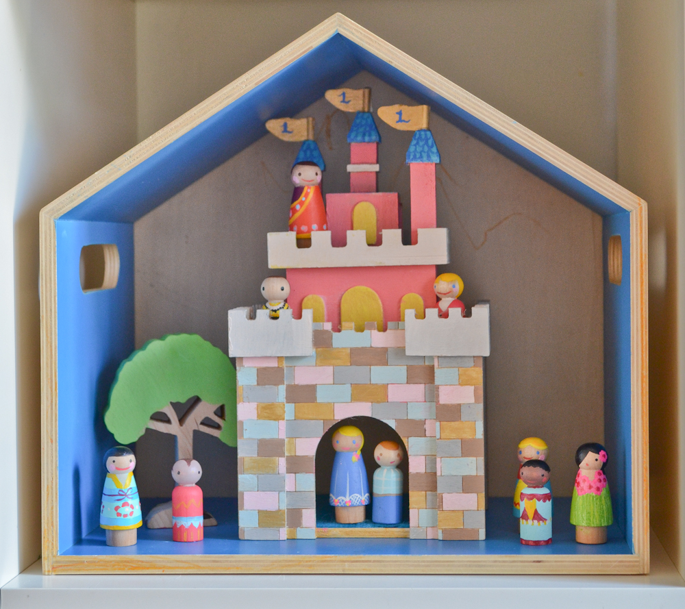 Disneyland Castle Peg People DIY