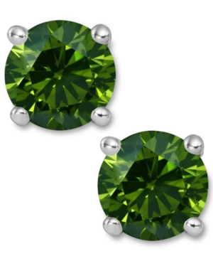 sparkling stud earrings green, viva glam magazine, st. patricks day