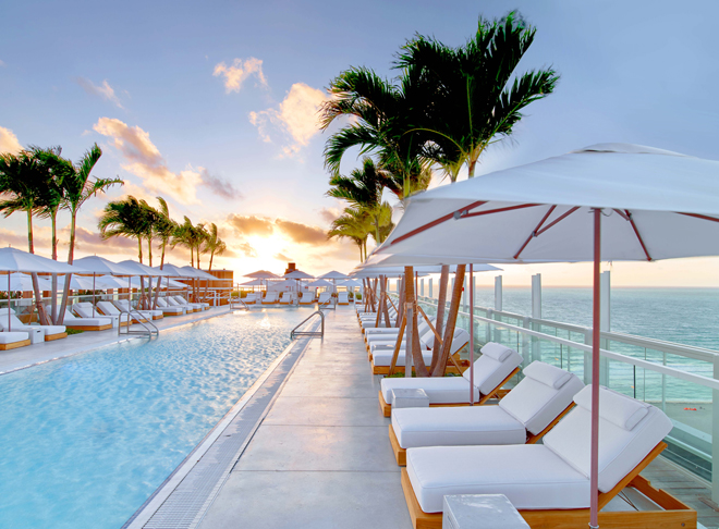 Eco Luxury Miami 1 Hotel South Beach rooftop pool