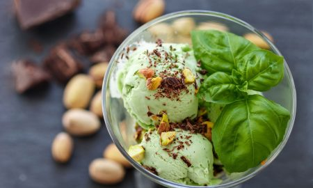 vegan-mint-green-nice-cream-basil-pistachio-chocolate, The Nice Cream Recipe That Dreams Are Made Of