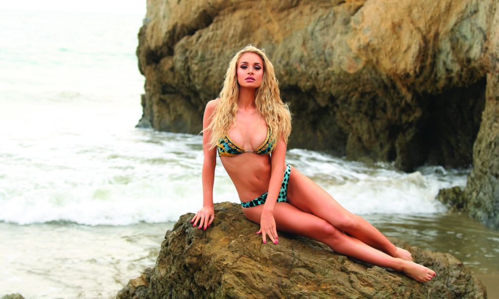Beach-Sexy-Hair-Anna-Katharina-bikini-sitting-rock-beach-mermaid-hair-waves