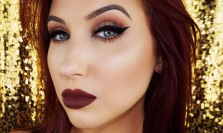 jaclyn_hill_fall_makeup_trend_shimmer_metallic_bold_lip_berry_highlight_