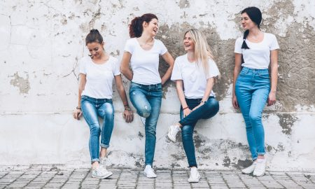 denim, jeans, group of girls