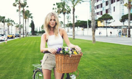 blonde, spring, summer, biking