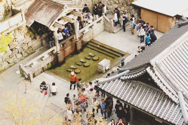 Otowa waterfall Kiyomizu temple Kyoto