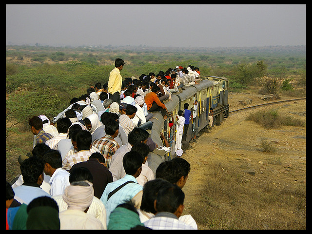 The train to Hirapur.  Image credit: Itinerant Observer.