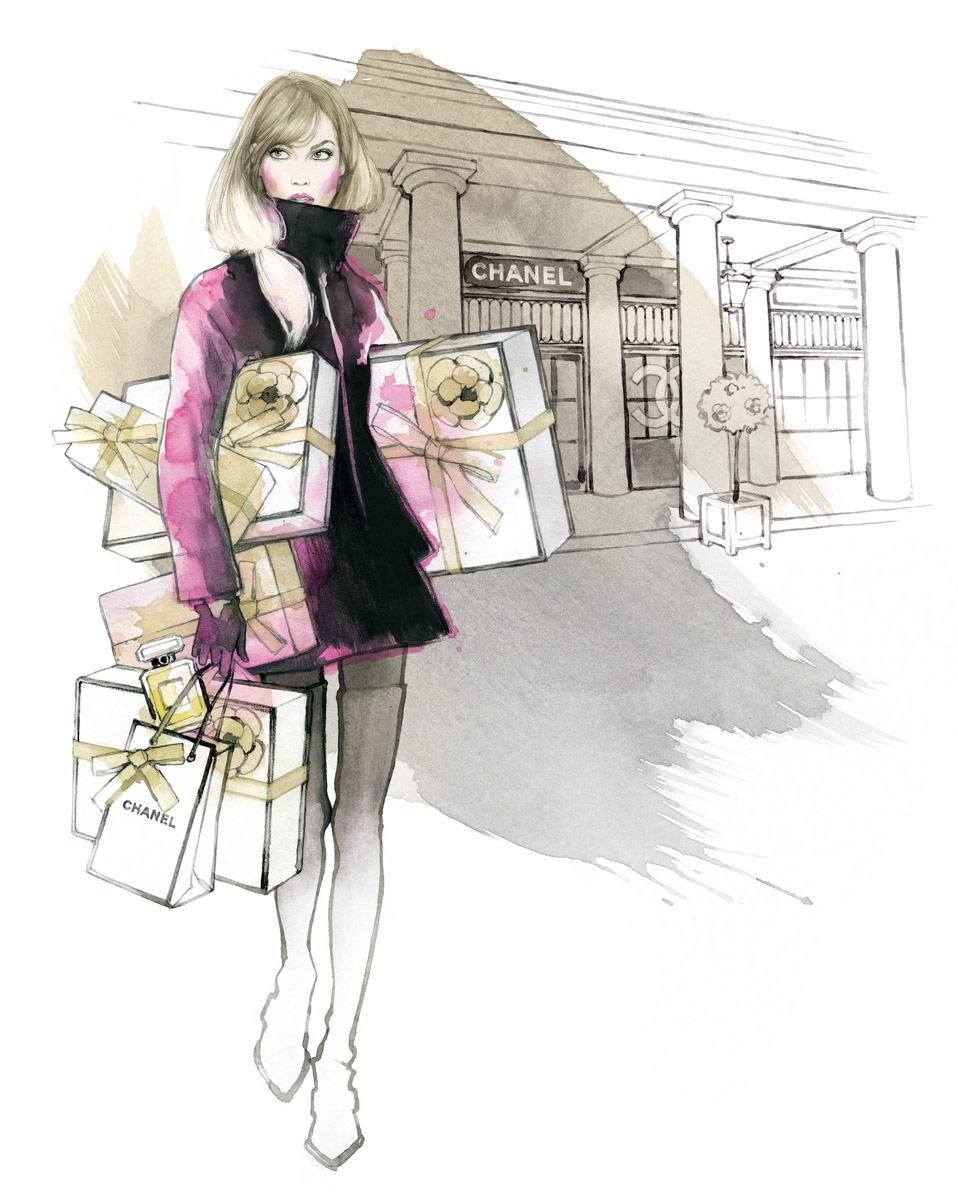 Illustrated by Alicia malesani-Chanel-Christmas-High