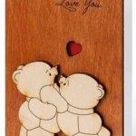Handmade Wood Card