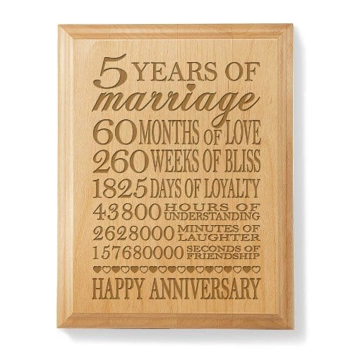 5 Year Wedding Anniversary Gift Ideas Wood : 5th Wedding Anniversary Gift Ideas for WifeVivids