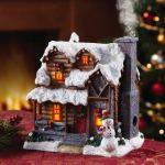 Smoking Country Christmas Cabin Incense Burner