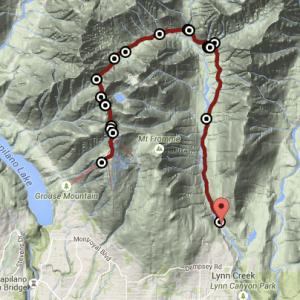 Rando Hanes Valley trail, depuis Lynn Creek à Grouse Mountain