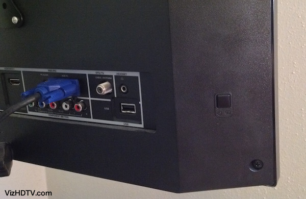 TV power button on the back.