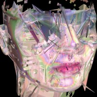 "3D Glitch Portrait of Carrie Gates Featured in Mitch Posada's Show ""Databending Portraits"""
