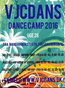 Dance Camp 2016 | VJcdans.dk, Hillerød, Nordsjælland