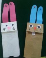 Paper bag hand puppets. Kindergarten.