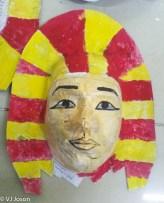 4th grade Egyptian mummy mask (painted)