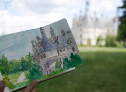 Passing the time away at Chambord Chateau some 26 minutes away from Blois by bus.