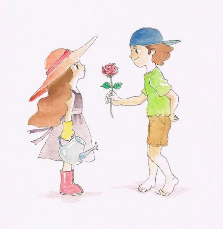 Book illustration gift. 2011. Watercolors.