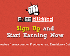 Freebuster Unlimited trick : Join and get 10 rs as joining bonus