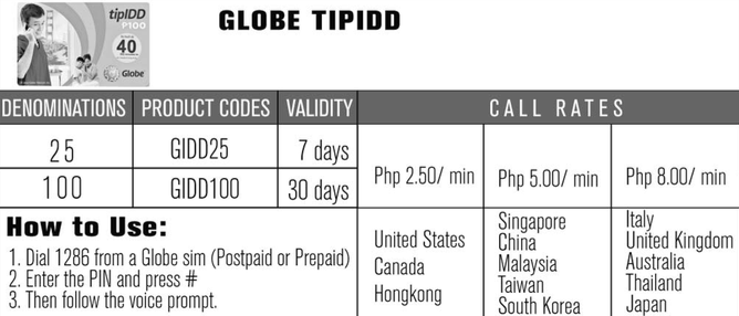 VMOBILE GLOBE TIPIDD PRICES