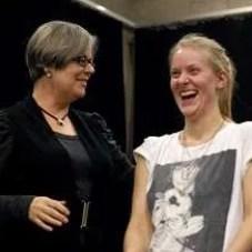 Dr Gillyanne Kayes teaching singing