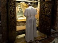 Pope Francis Praying at the Tomb of St. Peter