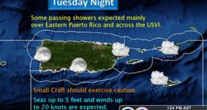 Pronóstico del Servicio de Meteorología de los Estados Unidos en San Juan.