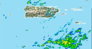 Imagen del radar. (Servicio de Meteorología de Estados Unidos en San Juan)