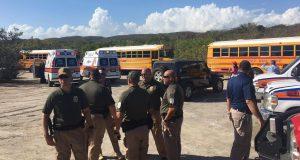 Personal de distintas agencias participó del rescate.