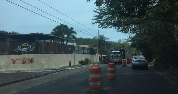 La reparación se realiza entre el kilómetro 63.3 y la urbanización Monte Sol en Juana Díaz. (Voces del Sur)