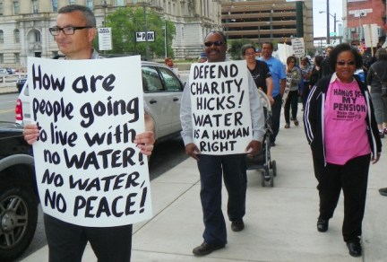 """Marchers demand """"Defend Charity Hicks"""""""