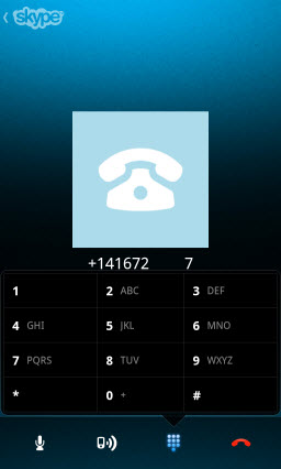 SkypeOut Call Dial Pad (for Interactive Response activity)