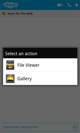 File Transfer: Select Source