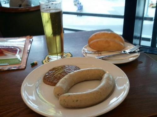 saucisse blanche allemande weisswurst sahne