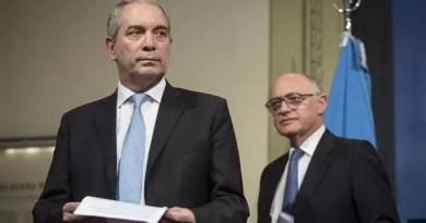 Alak y Timerman en la conferencia de prensa que dieron ayer.Foto:Télam