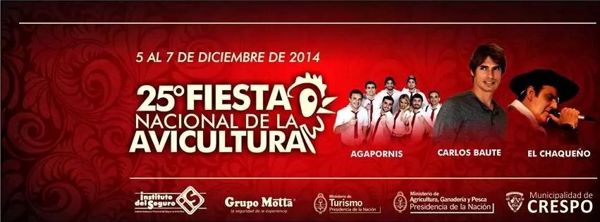 25ª Fiesta Nacional de la Avicultura - Crespo, 5 al 7 de Diciembre de 2014