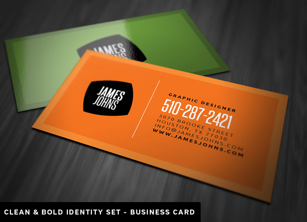 Clean and Bold Identity Set