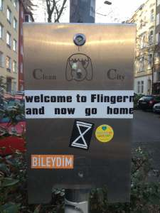 Welcome to Flingern now go home