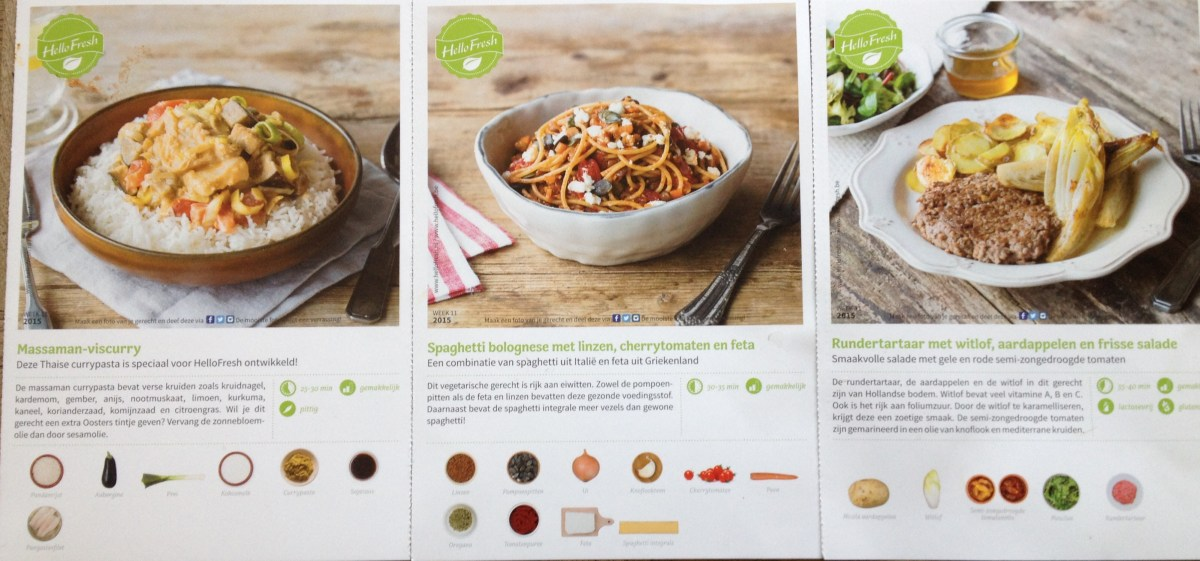 Een weekje HelloFresh - Project Foodbox week 2