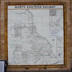 nort eastern railway stenen treinkaart