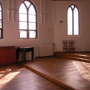 A capella optreden in de kapel