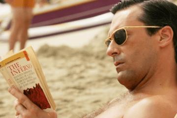 man reads