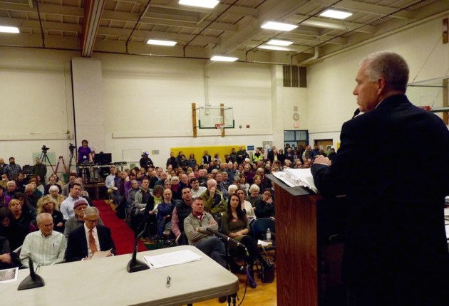 At packed meeting, Shelburne residents vow to fight rail project