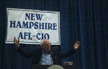 Sanders stumps for Clinton in New Hampshire