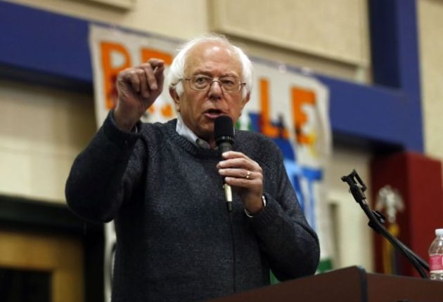 Sanders swing through Bennington draws 700