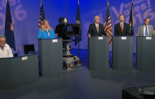 Leahy fends off attacks from Milne and other candidates in debate