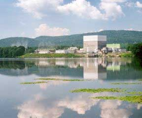 Vermont Yankee on the banks of the Connecticut River
