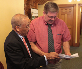 Sen. Randy Brock submitted his petition to get on the ballot as a gubernatorial candidate. VTD Photo/Taylor Dobbs