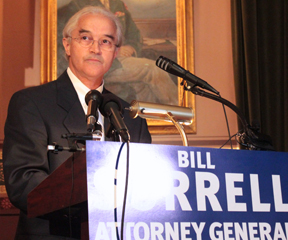 Attorney General Bill Sorrell addressed supporters at his official campaign launch in the Cedar Creek Room in the Statehouse May 30. VTD Photo/Taylor Dobbs