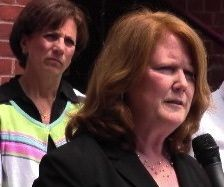 Jeanne Collins, center, superintendent of the Burlington School District